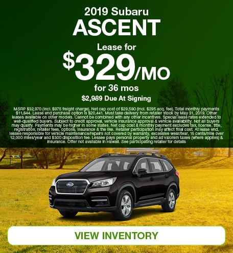 May 2019 Ascent Lease