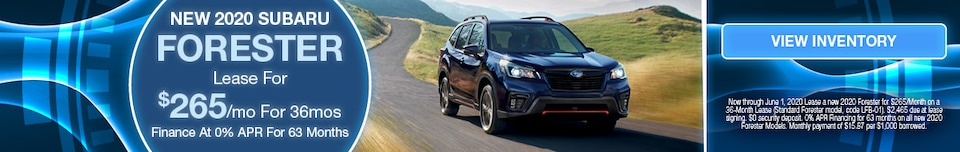 May 2020 Forester Lease