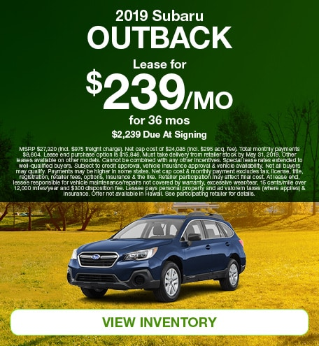 May 2019 Outback Lease