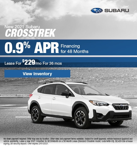 New 2021 Subaru Crosstrek