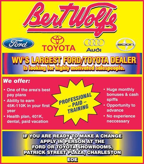 Contact Us. Bert Wolfe Toyota