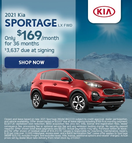 2021 Kia Sportage LX FWD - Lease Offer