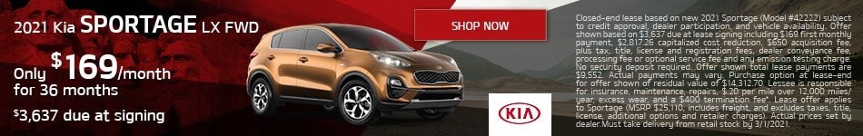 2021 Sportage Lease