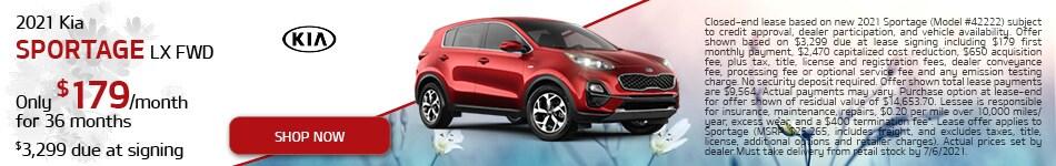 2021 Kia Sportage LX FWD Lease