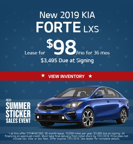 May Kia Forte Lease Special