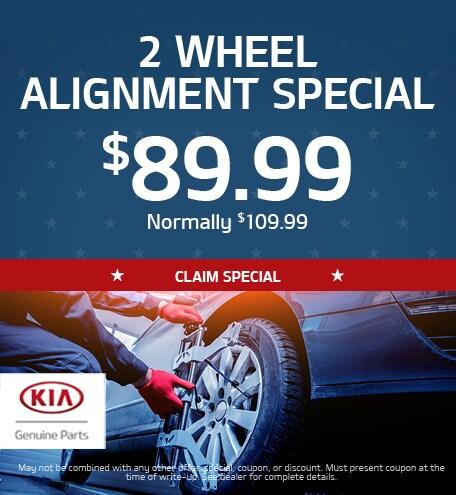2 Wheel Alignment Special