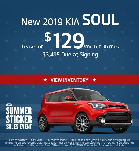 May Kia Soul Lease Special