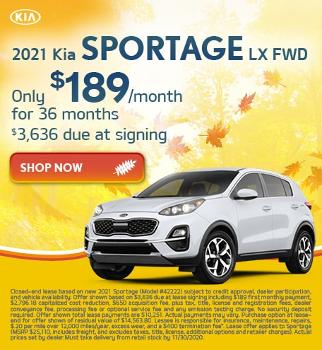 2021 Sportage Lease