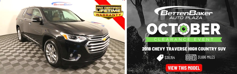 2018 Chevy Traverse High Country SUV