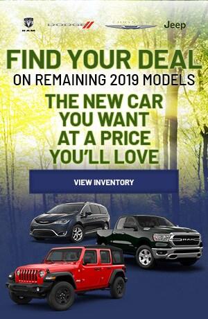 May | Remaining 2019 Vehicles| | Specials