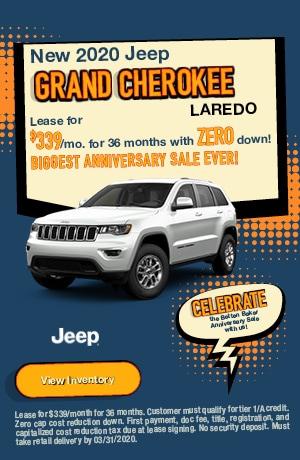 March | 2020 Jeep Grand Cherokee Laredo | Lease
