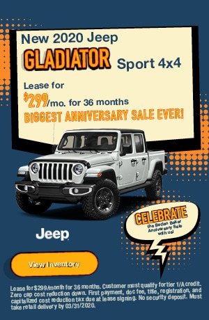 March | 2020 Jeep Gladiator | Lease