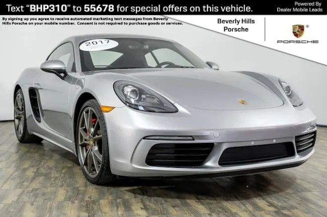 Pre-Owned 2017 Porsche 718 Cayman S Coupe For Sale in Los Angeles, CA