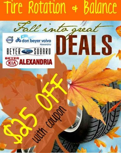Fall Into Savings Tire Rotation Balance Coupon Beyer Subaru