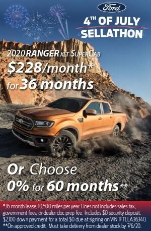 2020 Ford Ranger XLT $228/mo