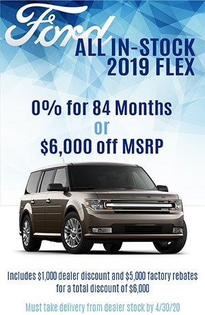 2019 Ford Flex 0% for 84 or $6,000 Off