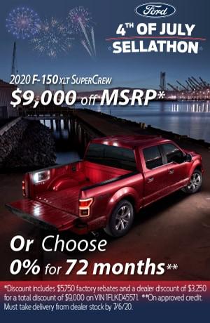 2020 F-150 XLT SuperCrew $9,000 Off MSRP