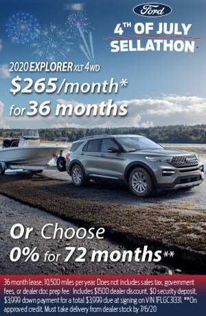 2020 Ford Explorer XLT $265/mo
