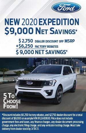 New 2020 Expedition- Jan 2021
