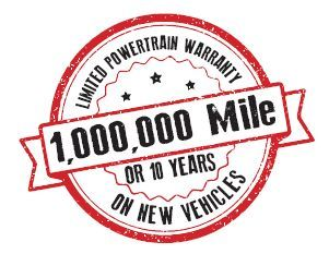 Ten Year One Million Warranty at Chrysler Dodge Jeep Ram Dealer near Crossville TN