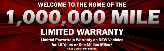 Million Mile Warranty Offer on New Chrysler Dodge Jeep Ram
