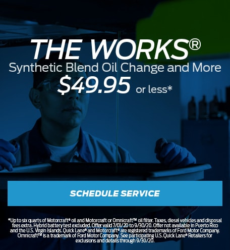 The Works® Synthetic Blend Oil Change and More