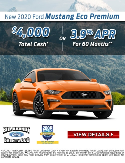 New 2020 Ford Mustang Eco Premium Special Offer