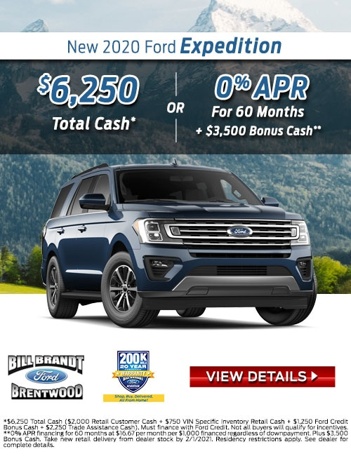 New 2020 Ford Expedition Special Offer