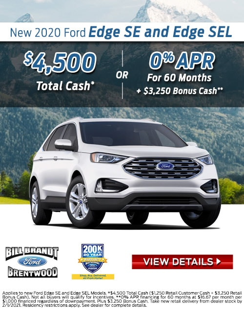 New 2020 Ford Edge SE and Edge SEL Special Offer