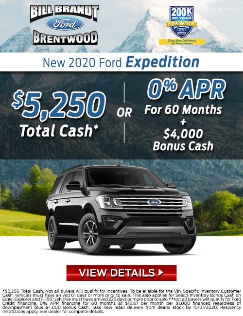 New 2020 Ford Expedition New Special