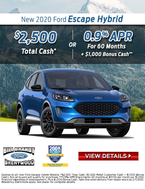New 2020 Ford Escape Hybrid Special Offer