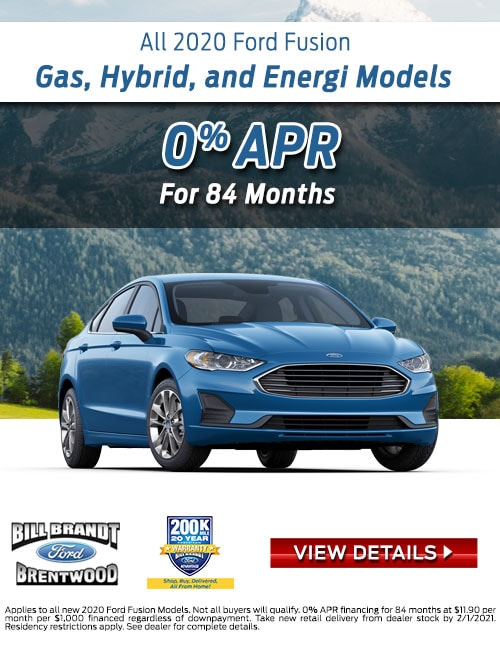 New 2020 Ford Fusion Gas, Hybrid, and Energi Models Special Offer