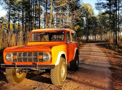 1973 Ford Bronco Explorer Orange