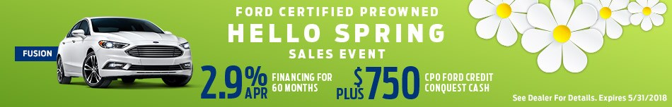 Ford Certified Preowned Hello Spring Sales Event