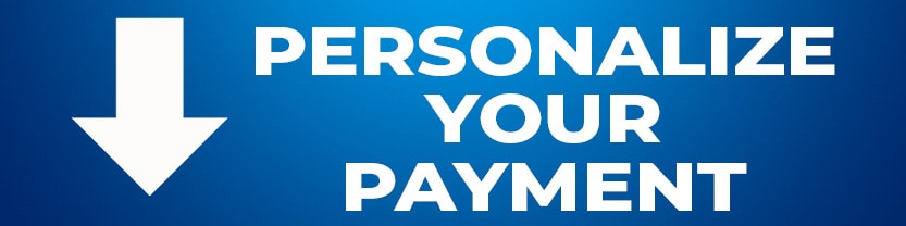 Personalize Payment - all detail pages