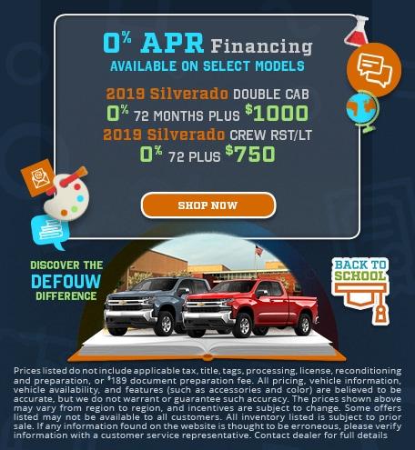 0% APR Finance on Select Model Trucks