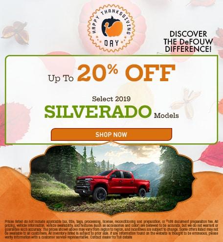New 2019 Chevrolet Silverado - 20% OFF MSRP