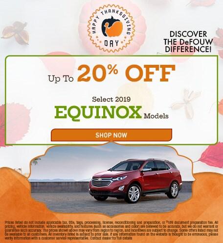 New 2019 Chevrolet Equinox - 20% OFF MSRP