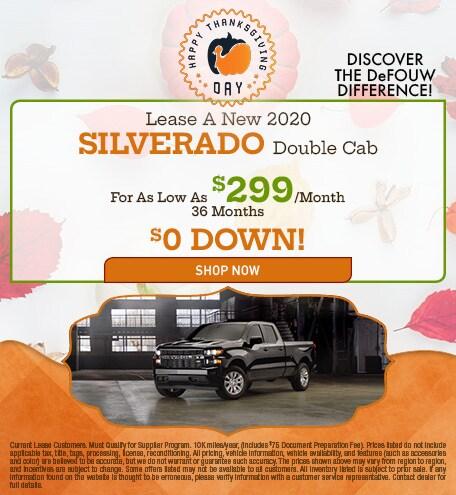 New 2020 Chevrolet Silverado Lease Special