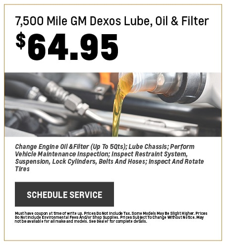 $7,500 Mile GM Dexos Lube, Oil & Filter