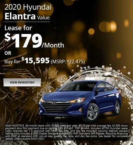 2020 Hyundai Elantra Value - Jan