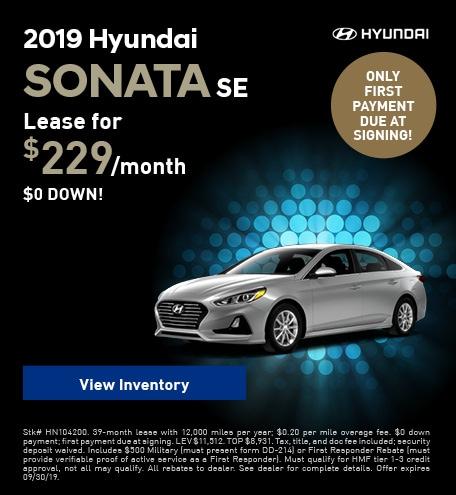 New 2019 Hyundai Sonata SE - Sept '19