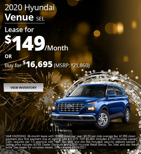 2020 Hyundai Venue SEL - Jan