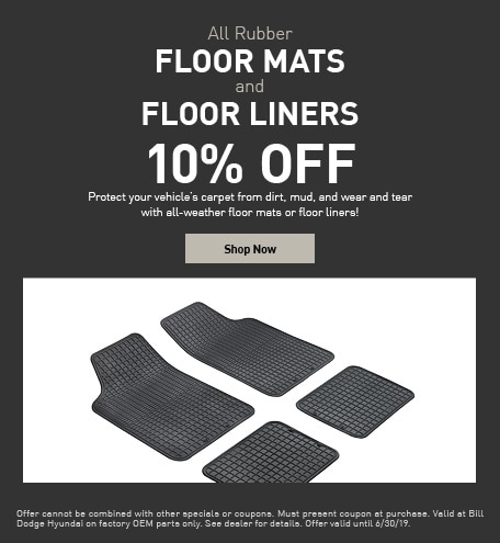 10% Off All Rubber Floor Mats & Floor Liners