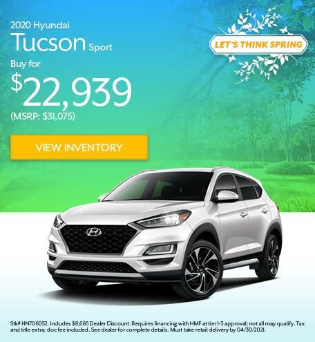 2020 Hyundai Tucson Sport - April