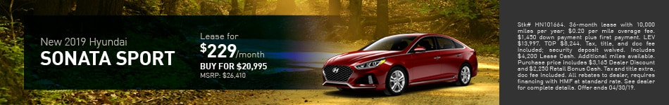 2019 Hyundai Sonata Sport - Lease