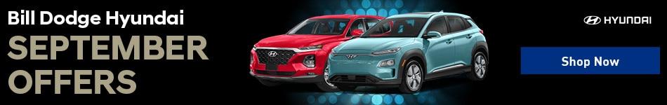 Bill Dodge Hyundai September Offers