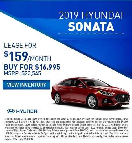 2019 Hyundai Sonata - Lease