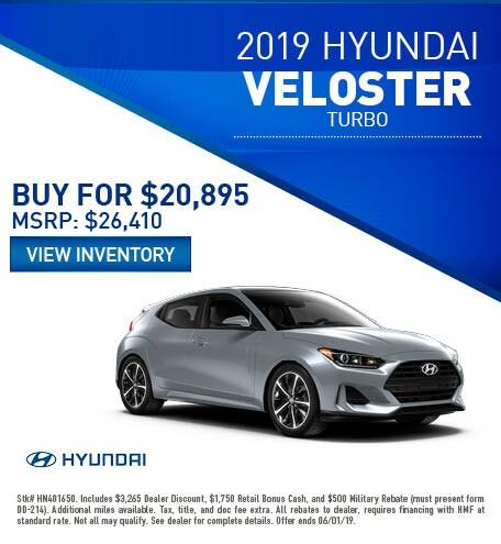 2019 Hyundai Veloster - Purchase
