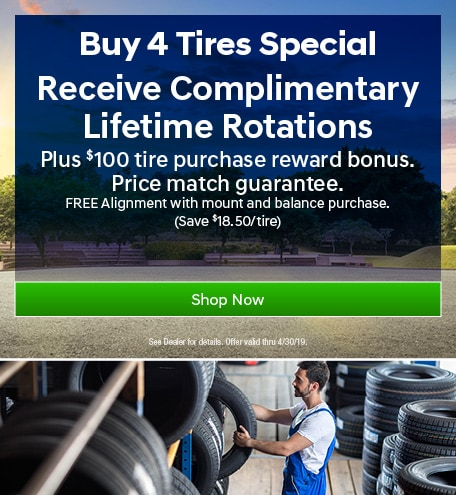 Buy 4 Tires, Receive Complimentary Lifetime Rotations
